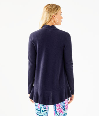 Marette Cashmere Cardigan, True Navy, large 1