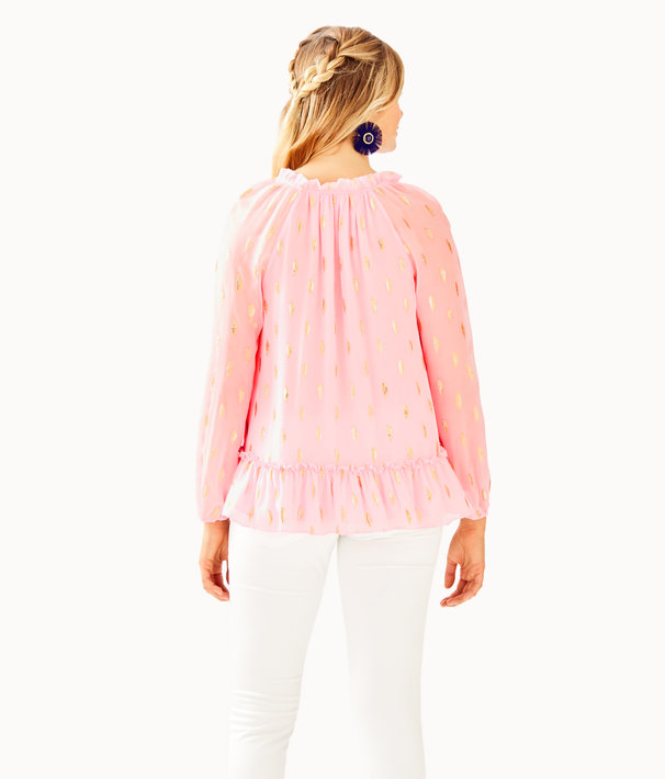 Savanna Top, Pink Tropics Tint Diamond Metallic Clip, large