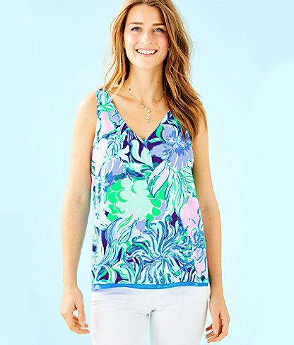 Florin Sleeveless V-Neck Top, Multi Party Thyme, large 0