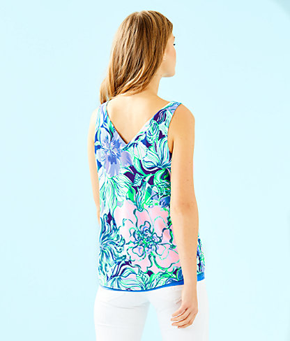 Florin Sleeveless V-Neck Top, Multi Party Thyme, large 1