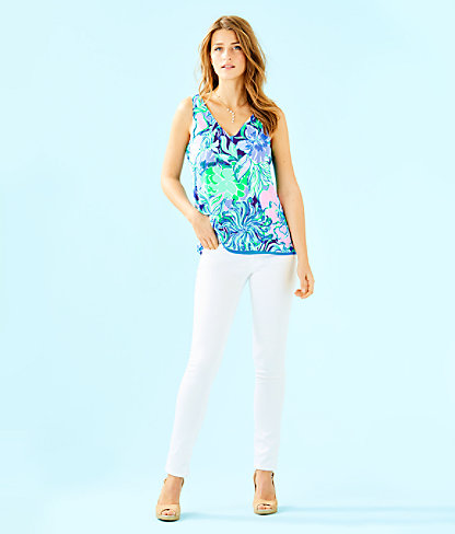 Florin Sleeveless V-Neck Top, Multi Party Thyme, large 3