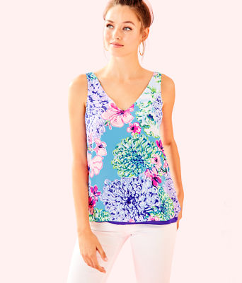 Florin Sleeveless V-Neck Top, Multi Special Delivery, large 0