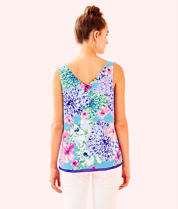 Florin Sleeveless V-Neck Reversible Top, Multi Special Delivery, large