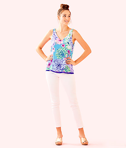 Florin Sleeveless V-Neck Top, Multi Special Delivery, large 2