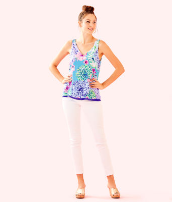 Florin Sleeveless V-Neck Top, Multi Special Delivery, large