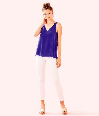 Florin Sleeveless V-Neck Top, Multi Special Delivery, large 3