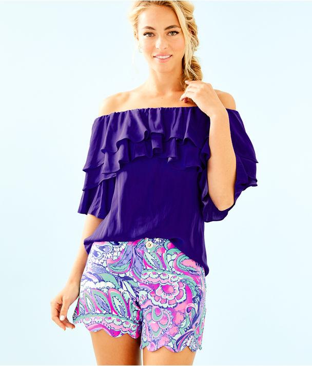 "5"" Buttercup Knit Short, Pink Tropics Mermaids Call, large"