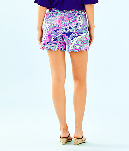 "5"" Buttercup Knit Short, Pink Tropics Mermaids Call, large 1"