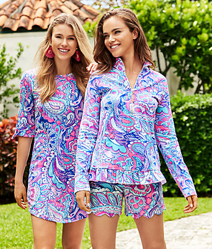 "5"" Buttercup Knit Short, Pink Tropics Mermaids Call, large 4"