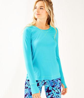 UPF 50+ Luxletic Meryl Nylon Renay Sunguard, Amalfi Blue, large 0