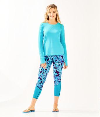 UPF 50+ Luxletic Meryl Nylon Renay Sunguard, Amalfi Blue, large 2