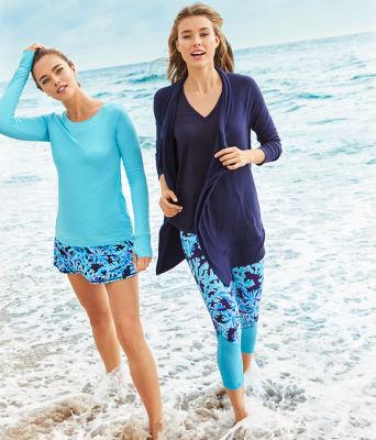 UPF 50+ Luxletic Meryl Nylon Renay Sunguard, Amalfi Blue, large 3