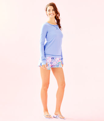 UPF 50+ Luxletic Meryl Nylon Renay Sunguard, Blue Peri, large 2