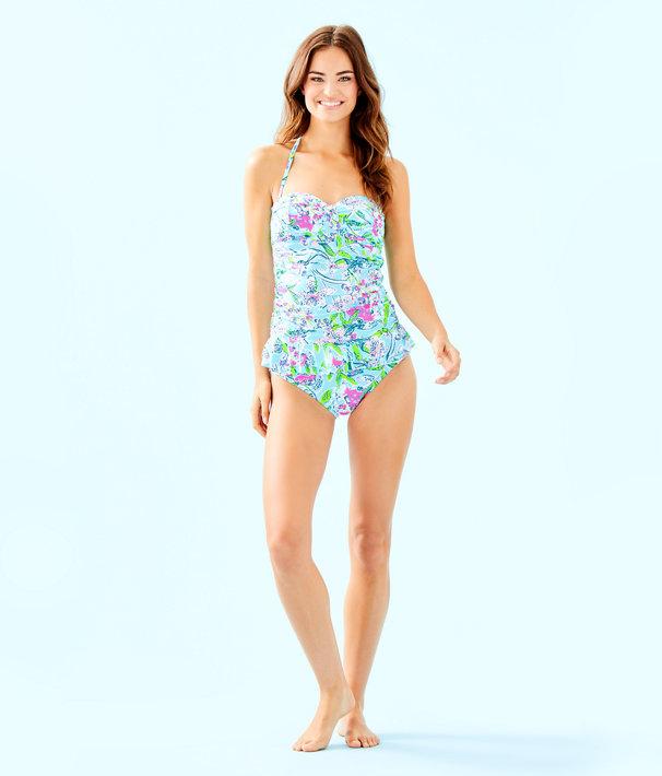 Lagoon Sarong Hipster Bikini Bottom, Bali Blue Sway This Way Swim, large