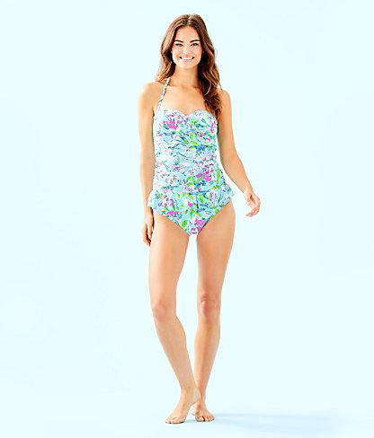 Lagoon Sarong Hipster Bikini Bottom, Bali Blue Sway This Way Swim, large 2