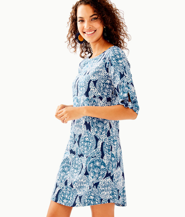 Preston Tie Sleeve Dress, Deep Indigo Snap To It, large