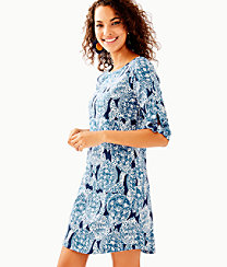 Preston Tie Sleeve Dress, , large