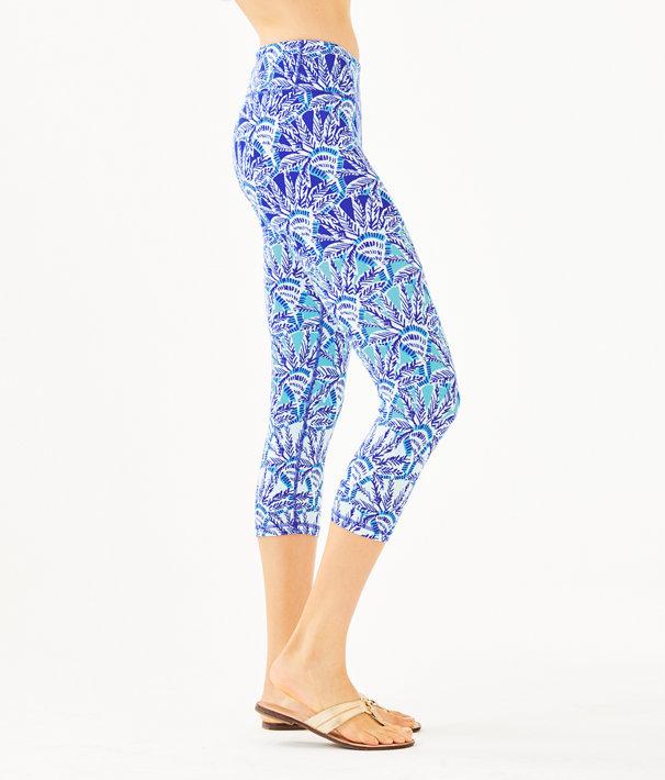 """UPF 50+ Luxletic 21"""" Weekender Crop Legging, Whisper Blue One Of A Kind Engineered Legging, large"""