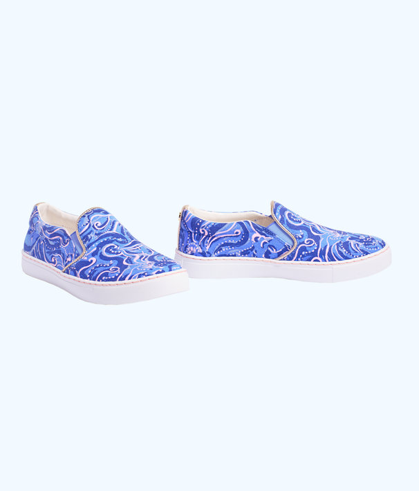 Julie Sneaker, Coastal Blue Whispurr Accessories Small, large