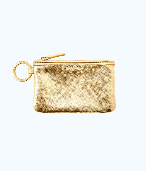 Key ID Card Case, Gold Metallic, large