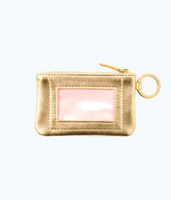 Key ID Card Case, Gold Metallic, large 1
