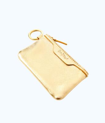 Key ID Card Case, Gold Metallic, large 2