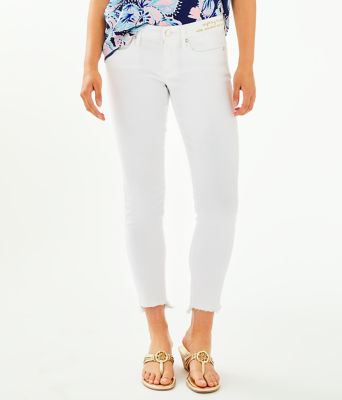"28"" South Ocean Skinny Jean - Crop, Resort White, large 0"