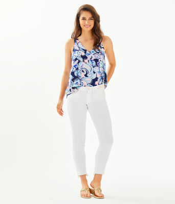 "28"" South Ocean Skinny Jean - Crop, Resort White, large 3"
