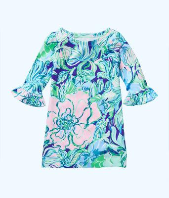 UPF 50+ Girls Mini Sophie Ruffle Dress, , large