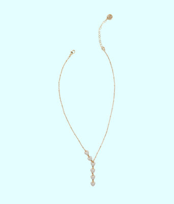 Amore Necklace, Gold Metallic, large