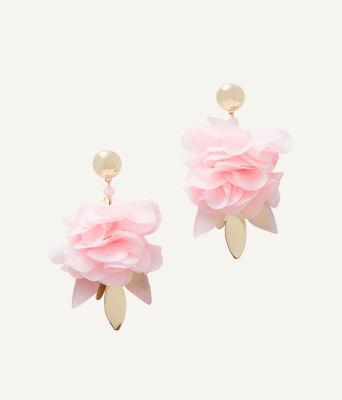 Cascading Petals Statement Earring, Pink Tropics Tint, large 0