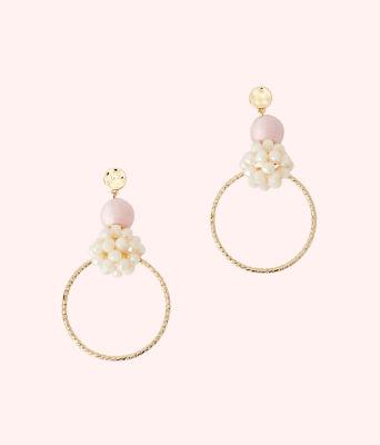 Caliente Statement Hoop Earrings, Pink Tropics Tint, large 0