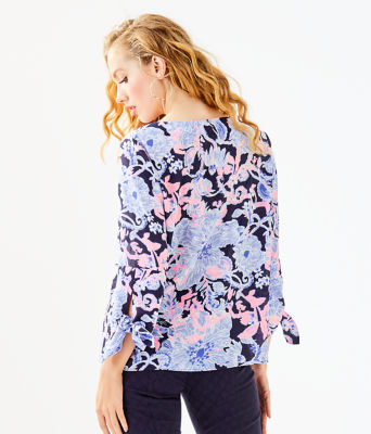 Langston Top, Bright Navy Amore Please, large