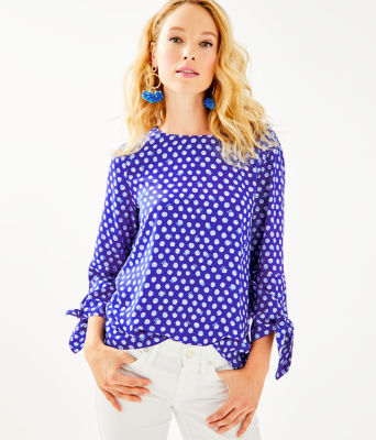 Langston Top, Royal Purple Spotted, large