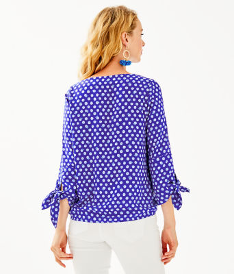 Langston Top, Royal Purple Spotted, large 1
