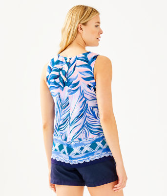 Iona Top, Pink Tropics Tint Heat Wave Engineered Top, large 1
