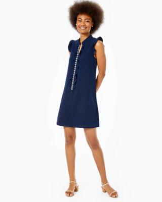 Adalee Shift Dress, True Navy, large 4