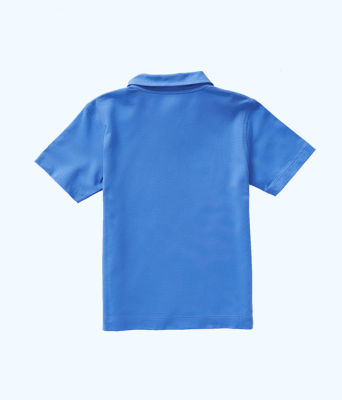 Boys Polo Shirt, Coastal Blue, large 1