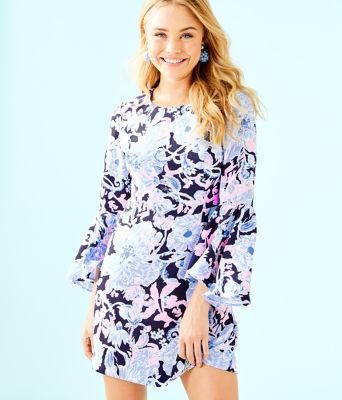 Kayla Stretch Dress, Bright Navy Amore Please, large 0