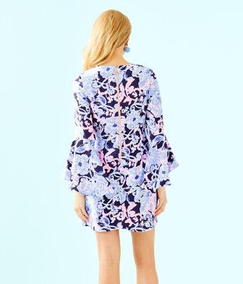 Kayla Stretch Dress, Bright Navy Amore Please, large 1