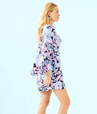 Kayla Stretch Dress, Bright Navy Amore Please, large 2