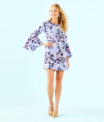 Kayla Stretch Dress, Bright Navy Amore Please, large 3