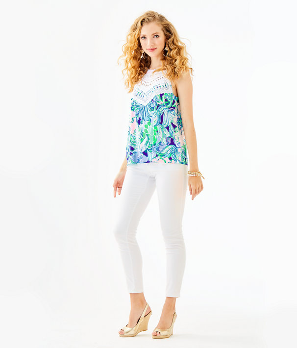 Dawn Halter Top, Multi Party Thyme, large