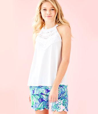 Dawn Halter Top, Resort White, large