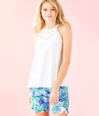 Dawn Halter Top, Resort White, large 0