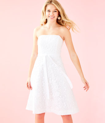 Sienna Dress, Resort White Floral Lace, large 0