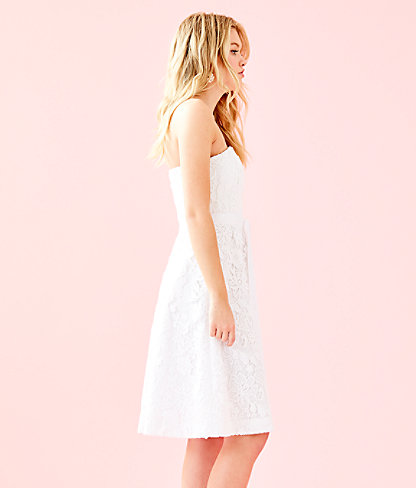 Sienna Dress, Resort White Floral Lace, large 2