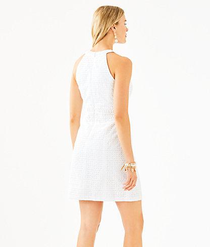 Ashlyn Shift Dress, Resort White Striped Eyelet, large 1
