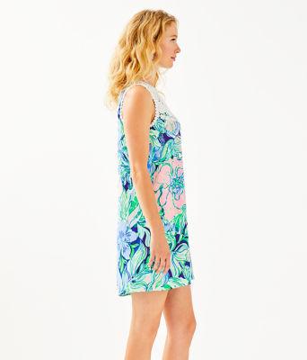 Nala Soft Shift Dress, Multi Party Thyme, large