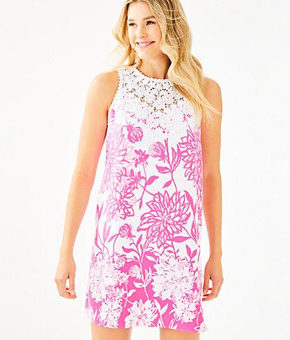 Nala Soft Shift Dress, Resort White Caliente Engineered Dress, large 0
